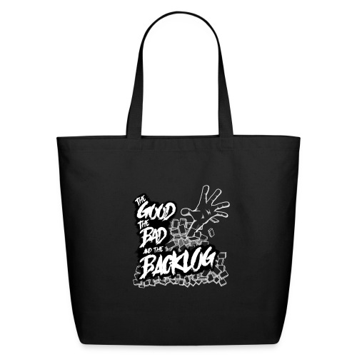 The Good, the Bad, and the Backlog - White logo2 - Eco-Friendly Cotton Tote