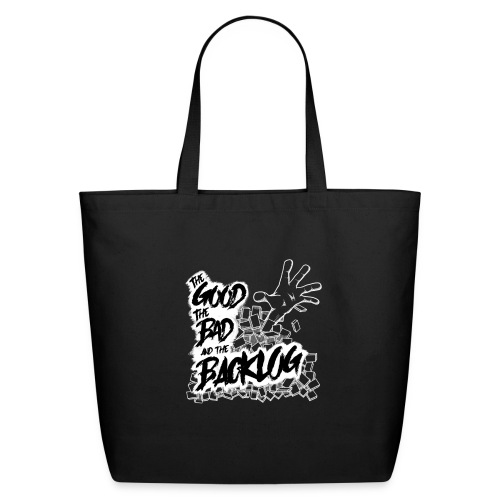 The Good, the Bad, and the Backlog - White logo - Eco-Friendly Cotton Tote