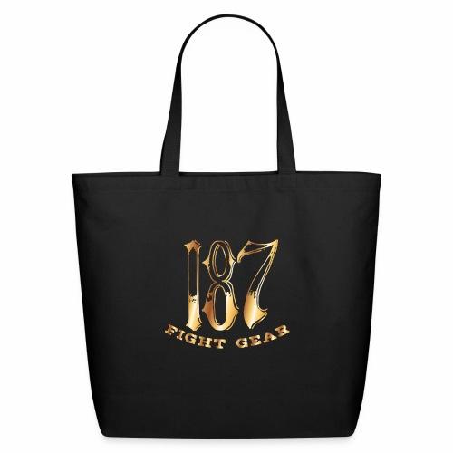 187 Fight Gear Gold Logo Street Wear - Eco-Friendly Cotton Tote
