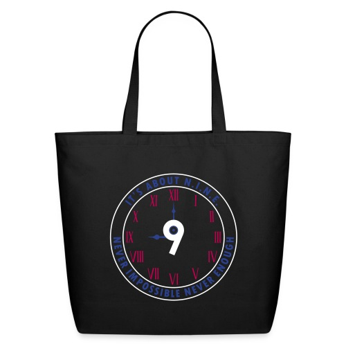 NINE Logo v2 2018 blue Outlines Red Numbers - Eco-Friendly Cotton Tote
