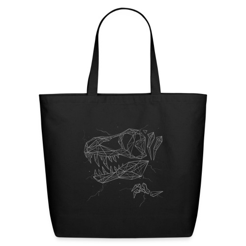 Jurassic Polygons by Beanie Draws - Eco-Friendly Cotton Tote