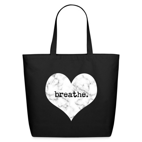 Breathe Heart (Marble) - Eco-Friendly Cotton Tote