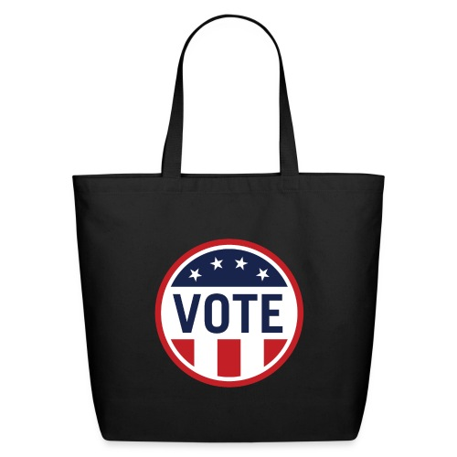 Vote Red White and Blue Stars and Stripes - Eco-Friendly Cotton Tote