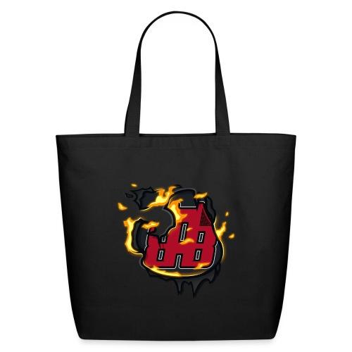 BAB Logo on FIRE! - Eco-Friendly Cotton Tote