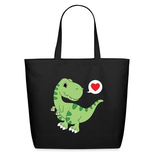 Dinosaur Love - Eco-Friendly Cotton Tote