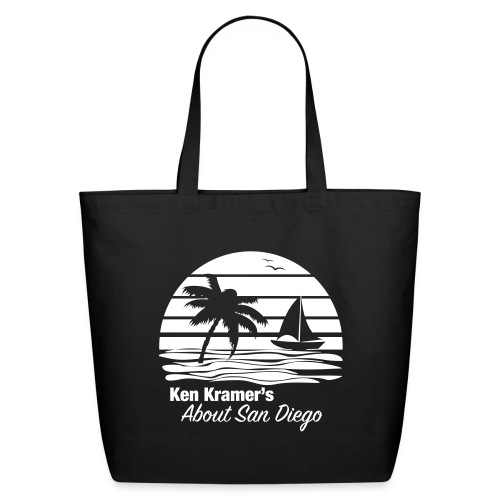 Ken's Awesome Monochrome Logo - Eco-Friendly Cotton Tote