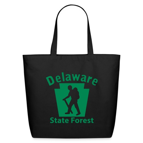 Delaware State Forest Keystone Hiker male - Eco-Friendly Cotton Tote
