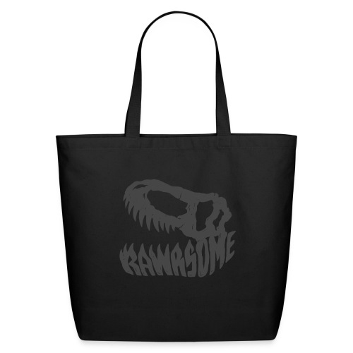 RAWRsome T Rex Skull by Beanie Draws - Eco-Friendly Cotton Tote