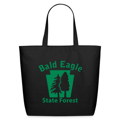 Bald Eagle State Forest Keystone (w/trees) - Eco-Friendly Cotton Tote