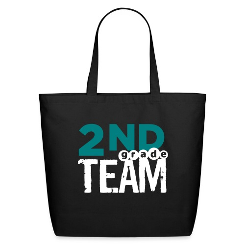 Bold 2nd Grade Team Teacher T Shirts - Eco-Friendly Cotton Tote