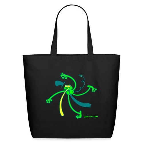 Kelly green Dancing Frog Women's T-Shirts - Eco-Friendly Cotton Tote
