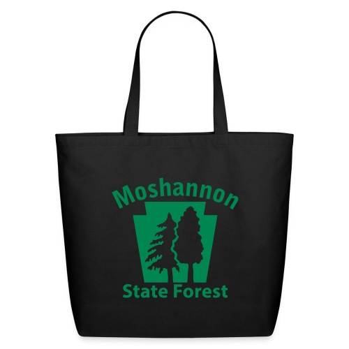 Moshannon State Forest Keystone (w/trees) - Eco-Friendly Cotton Tote