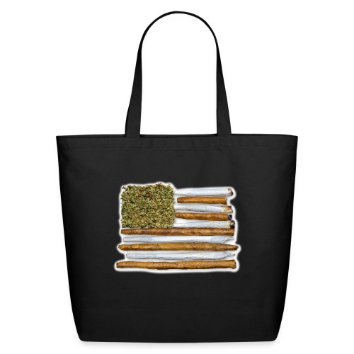 American Flag With Joint - Eco-Friendly Cotton Tote