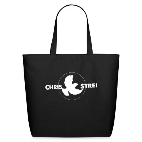 Chris Strei BlackBird Logo (white) - Eco-Friendly Cotton Tote