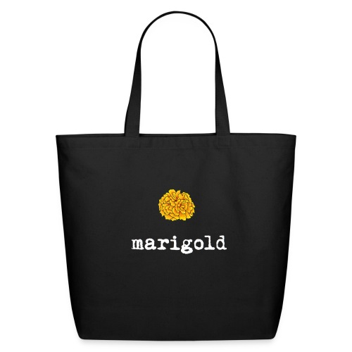 Marigold (white text) - Eco-Friendly Cotton Tote