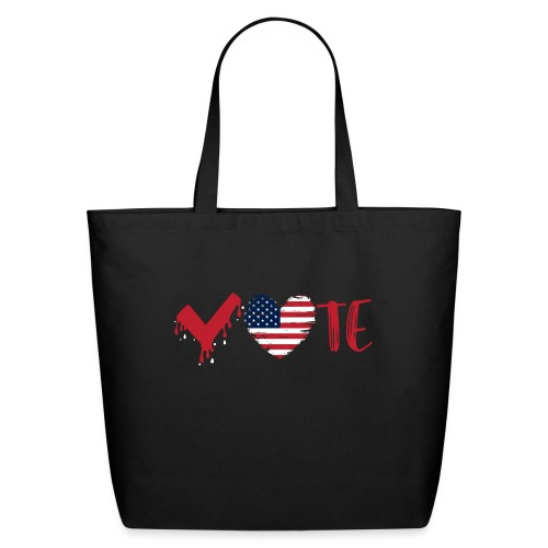 vote heart red - Eco-Friendly Cotton Tote