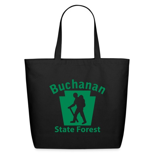 Buchanan State Forest Keystone Hiker male - Eco-Friendly Cotton Tote