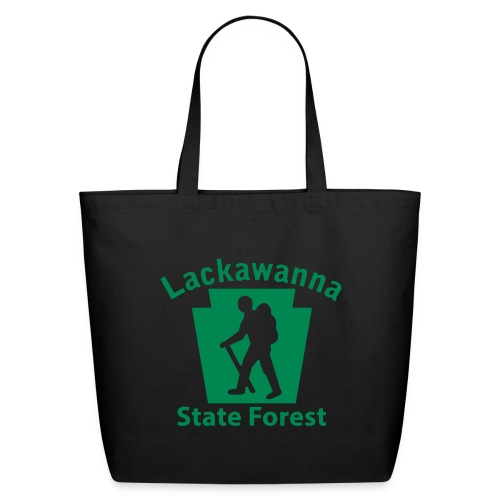 Lackawanna State Forest Keystone Hiker male - Eco-Friendly Cotton Tote