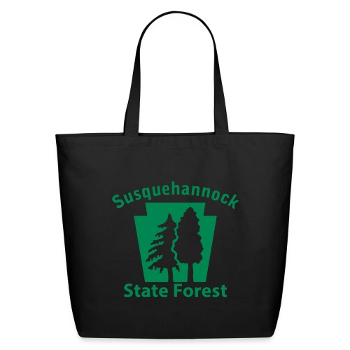 Susquehannock State Forest Keystone (w/trees) - Eco-Friendly Cotton Tote