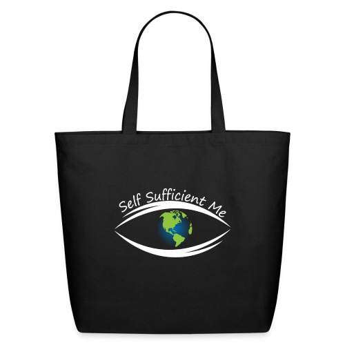 Self Sufficient Me Logo Large - Eco-Friendly Cotton Tote