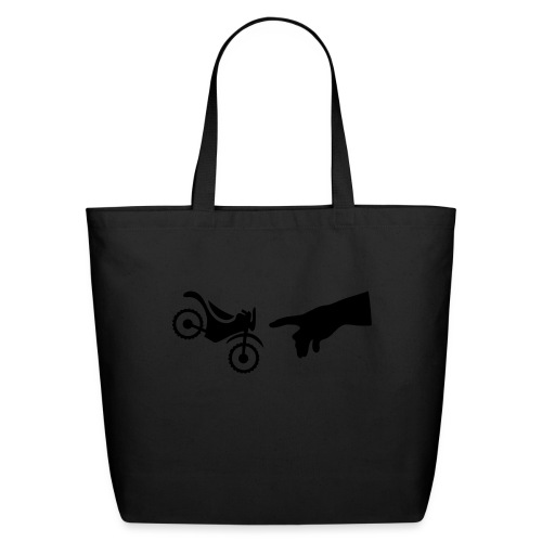 The hand of god brakes a motorcycle as an allegory - Eco-Friendly Cotton Tote