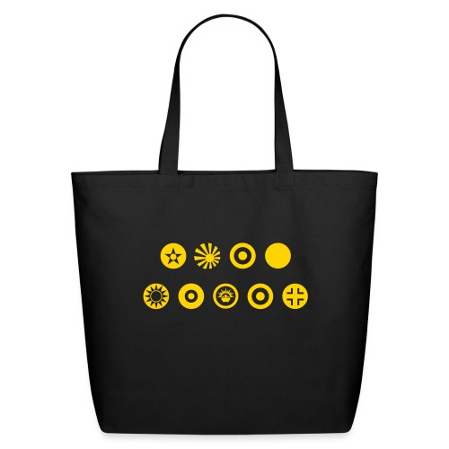 Axis & Allies Country Symbols - One Color - Eco-Friendly Cotton Tote