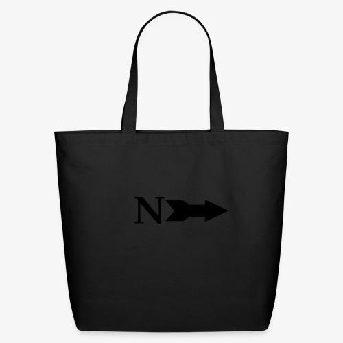 Narrow Logo Black - Eco-Friendly Cotton Tote