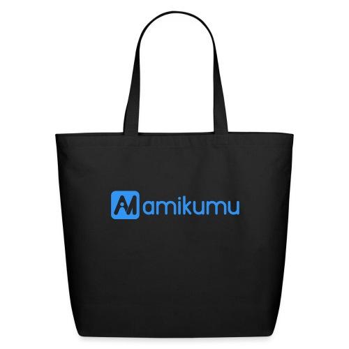 Amikumu Logo Blue - Eco-Friendly Cotton Tote