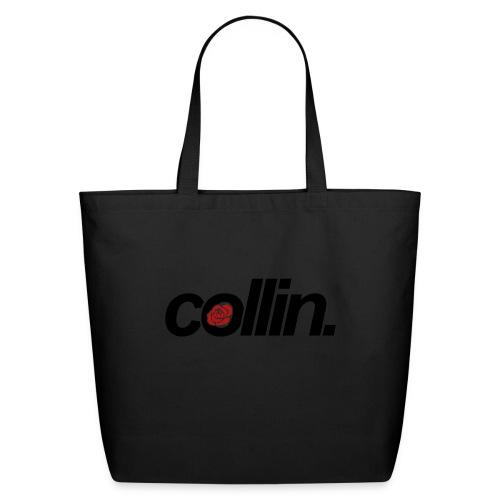 Collin. (Black w/ Rose) - Eco-Friendly Cotton Tote