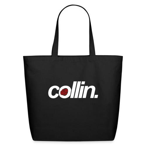 Collin. (White w/ Rose) - Eco-Friendly Cotton Tote
