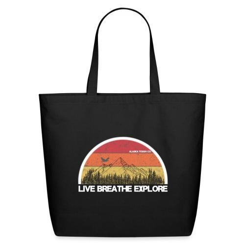 Live Breathe Explore Mountain - Eco-Friendly Cotton Tote