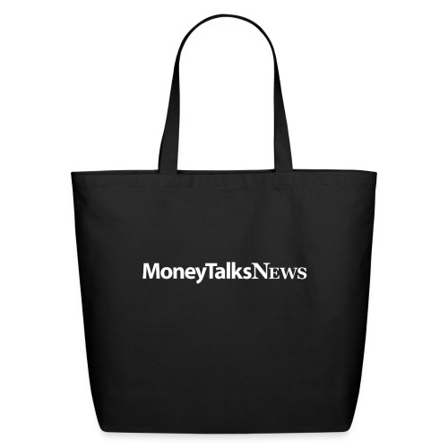 Money Talks News Logo - White - Eco-Friendly Cotton Tote