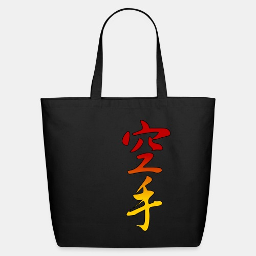 Karate Kanji Red Yellow Gradient - Eco-Friendly Cotton Tote