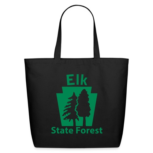 Elk State Forest Keystone (w/trees) - Eco-Friendly Cotton Tote