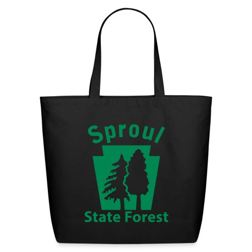 Sproul State Forest Keystone (w/trees) - Eco-Friendly Cotton Tote