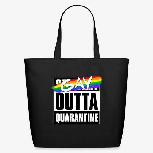Gay Outta Quarantine - LGBTQ Pride - Eco-Friendly Cotton Tote