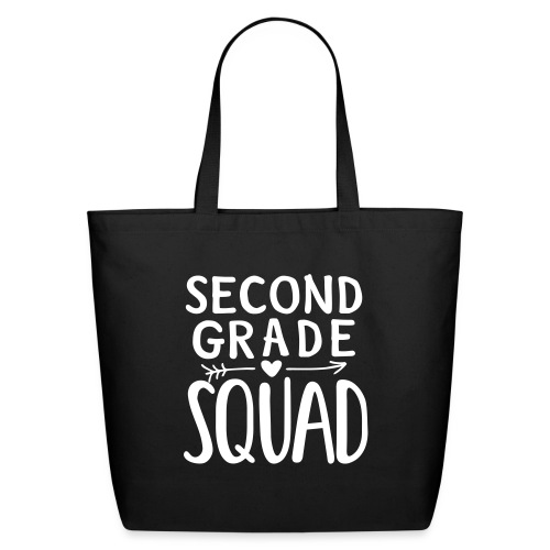 Second Grade Squad Teacher Team T-Shirts - Eco-Friendly Cotton Tote