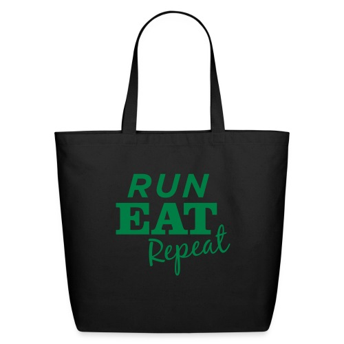 Run Eat Repeat buttons medium - Eco-Friendly Cotton Tote