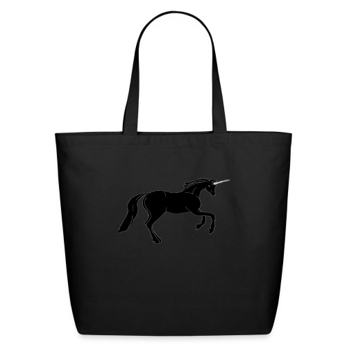 unicorn black - Eco-Friendly Cotton Tote