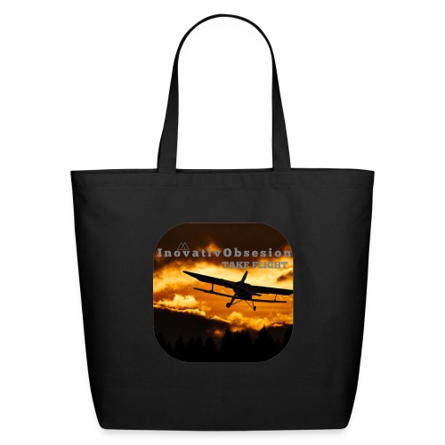 "InovativObsesion ""TAKE FLIGHT"" apparel - Eco-Friendly Cotton Tote"