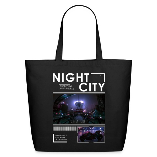 Night City Japan Town - Eco-Friendly Cotton Tote