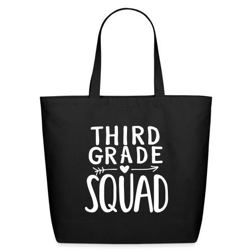 Third Grade Squad Teacher Team T-Shirts - Eco-Friendly Cotton Tote