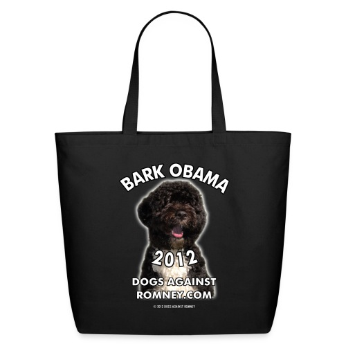 Official Dogs Against Romney Bark Obama 2012 - Eco-Friendly Cotton Tote