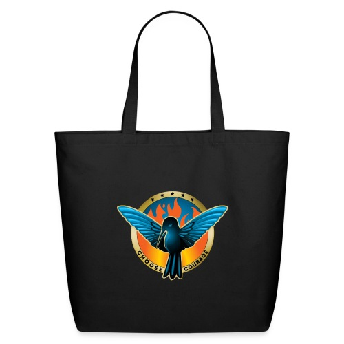 Choose Courage - Fireblue Rebels - Eco-Friendly Cotton Tote