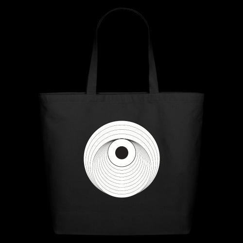 Black Dirt Vortex Logo Light - Eco-Friendly Cotton Tote