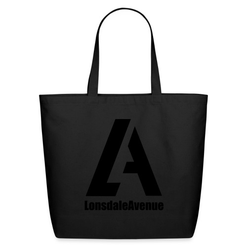 Lonsdale Avenue Logo Black Text - Eco-Friendly Cotton Tote