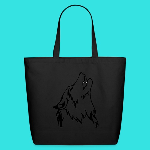 Wolf (back) - Eco-Friendly Cotton Tote