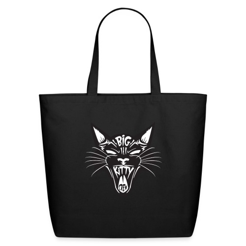 Big Kitty-Screaming Cat - Eco-Friendly Cotton Tote