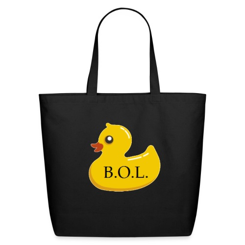 Official B.O.L. Ducky Duck Logo - Eco-Friendly Cotton Tote