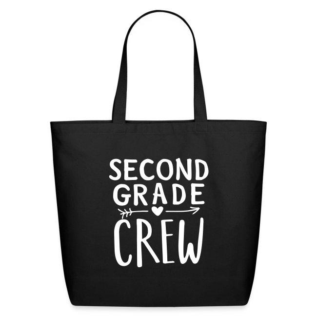 Second Grade Crew Heart Teacher T-Shirts